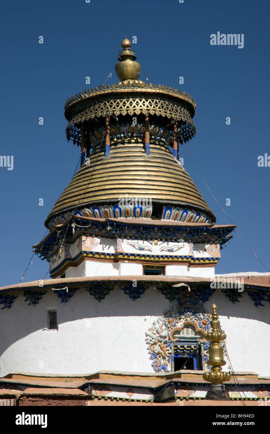the gyantse kumbum stupa - Stock Image