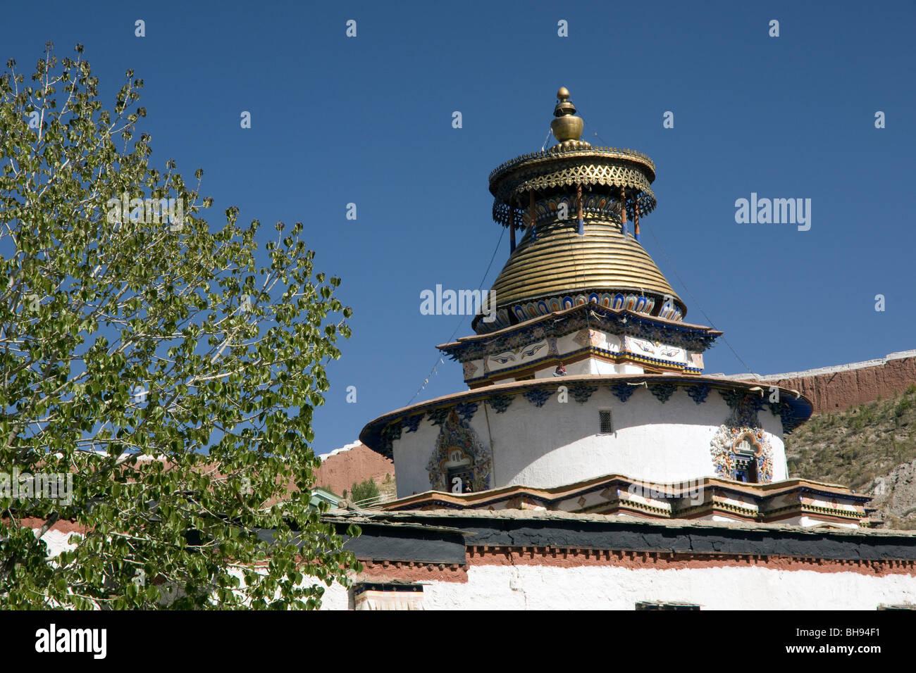 gyantse kumbum stupa - Stock Image