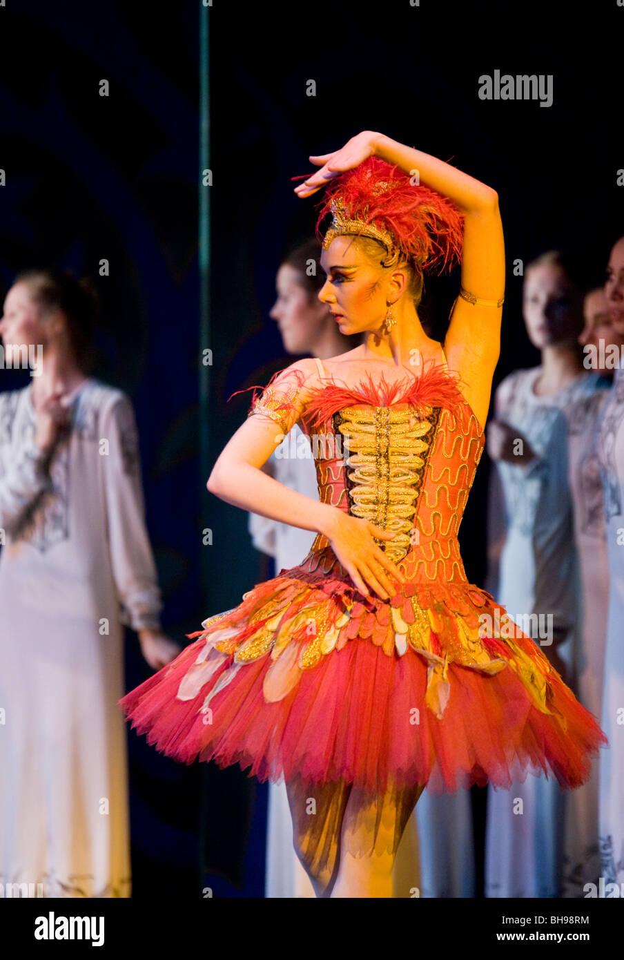 Birmingham Royal Ballet. The Firebird. - Stock Image