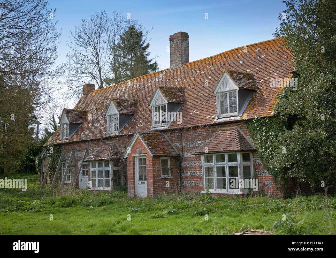 Derelict Cottage in Hampshire, England - Stock Image