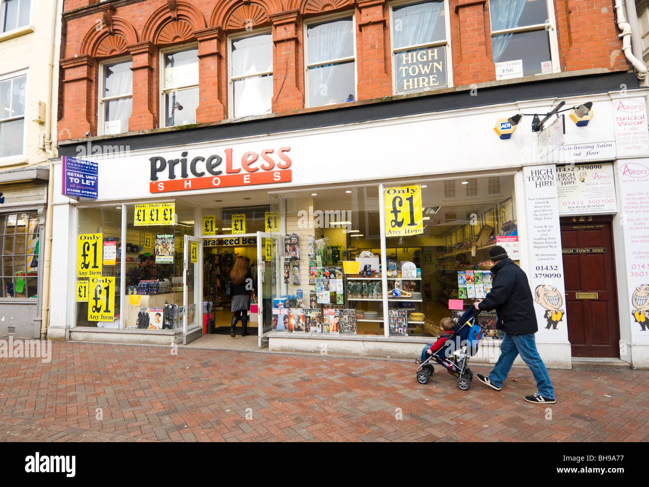 PriceLess Shop Hereford Herefordshire - Stock Image