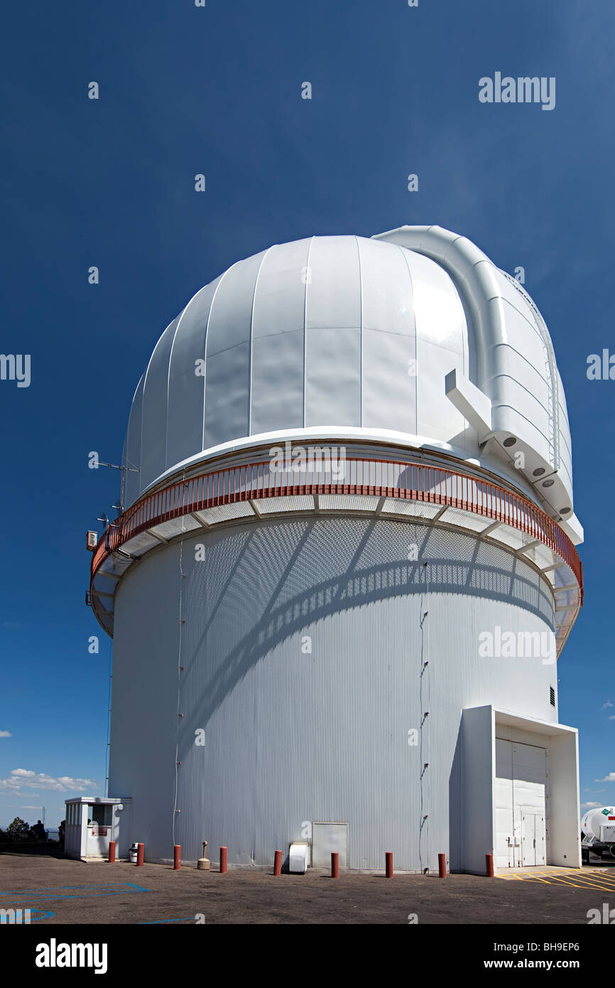 Harlan J. Smith telescope dome McDonald Observatory Fort Davis Texas USA - Stock Image