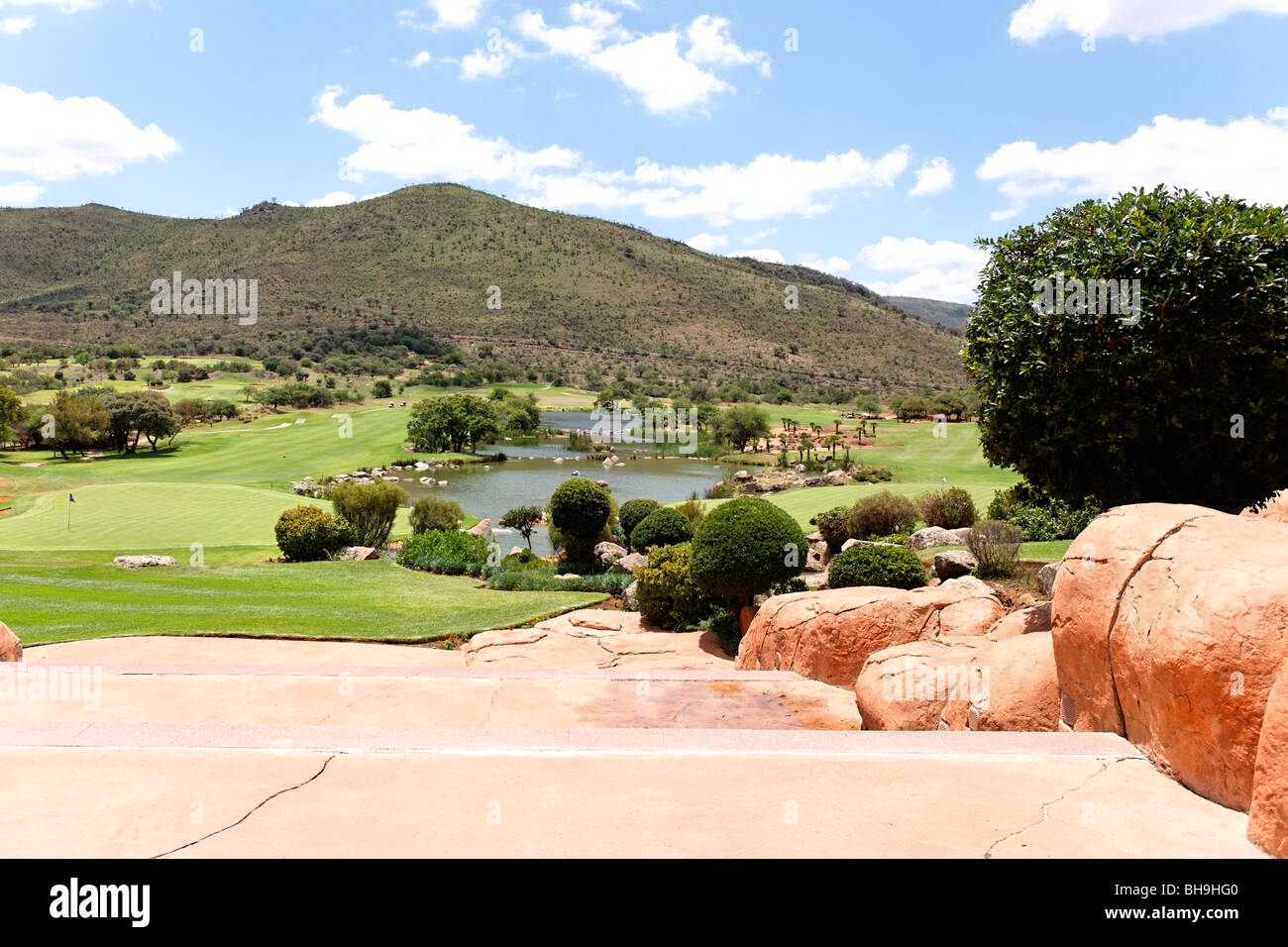 Sun City Golf Course Northwest Province , Johannesburg,South Africa - Stock Image
