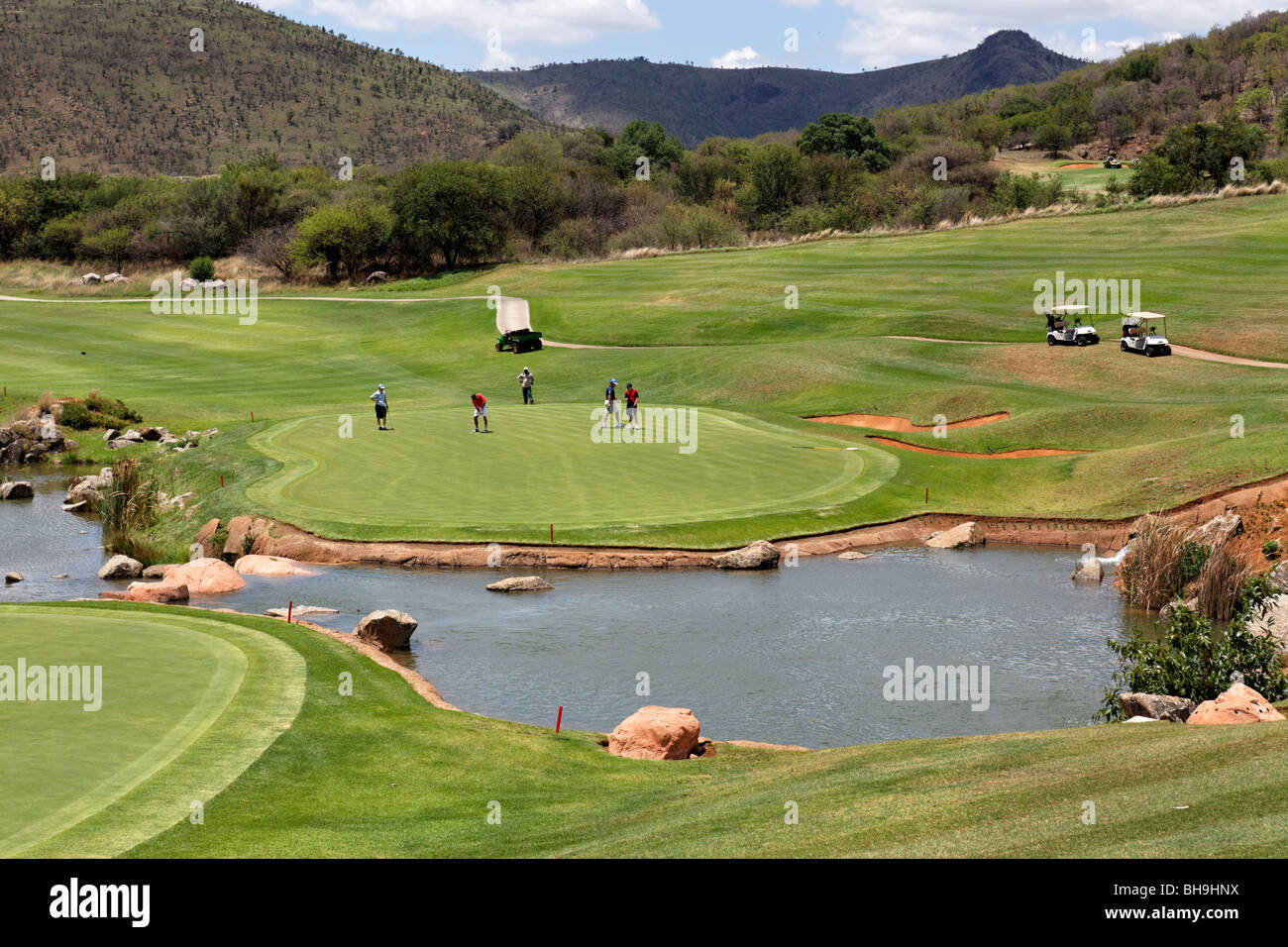 playing golf in johannesburg stock photos playing golf. Black Bedroom Furniture Sets. Home Design Ideas