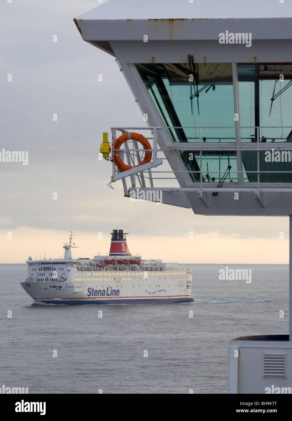 Stena Line ferries on Kattegat. - Stock Image