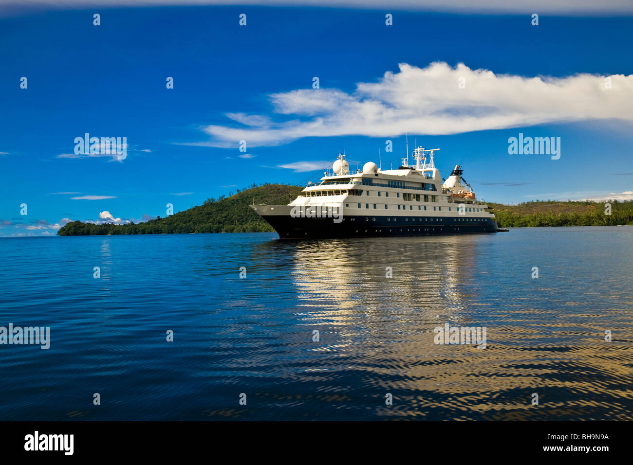 The German built Australian based expedition cruiser Orion Nggela Island Solomon Islands - Stock Image