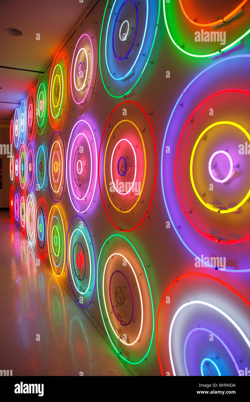 Neon wall of art - Stock Image