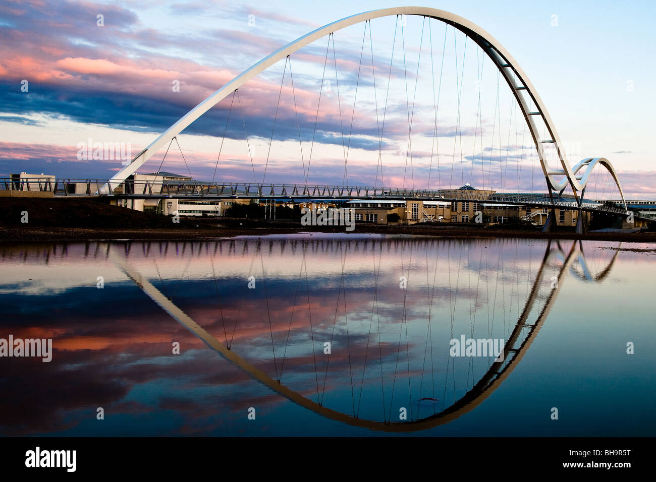 Infinity Bridge over River Tees - Stock Image
