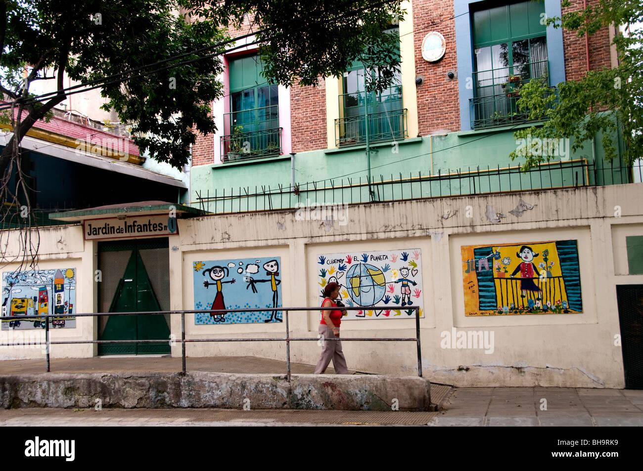Buenos Aires Argentina La Boca infant school kindergarten - Stock Image