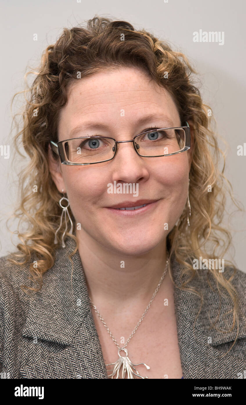 Jenny Willott MP Liberal Democrat MP for Cardiff Central pictured at the Welsh party conference in Swansea - Stock Image