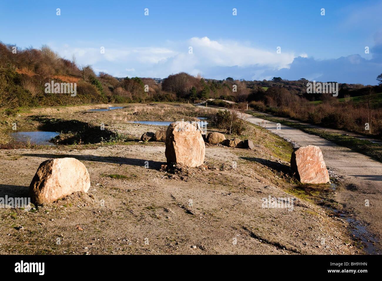 wheal Jane nature reserve; Cornwall - Stock Image