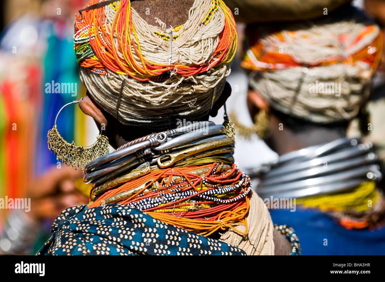 Colorful Bonda women. - Stock Image