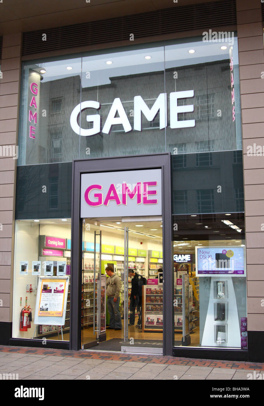 A Game retail outlet in Nottingham, England, U.K. - Stock Image