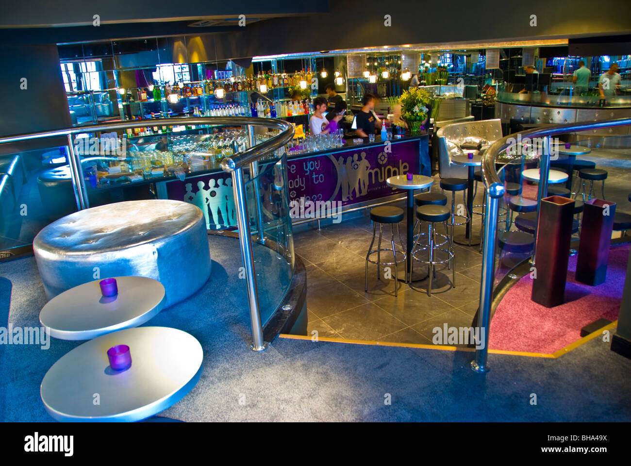 Beijing, CHINA- Interior Nightclub/Lounge/Bar, the Mingle (Under the La Maison de Marquerite Restaurant), Contemporary - Stock Image