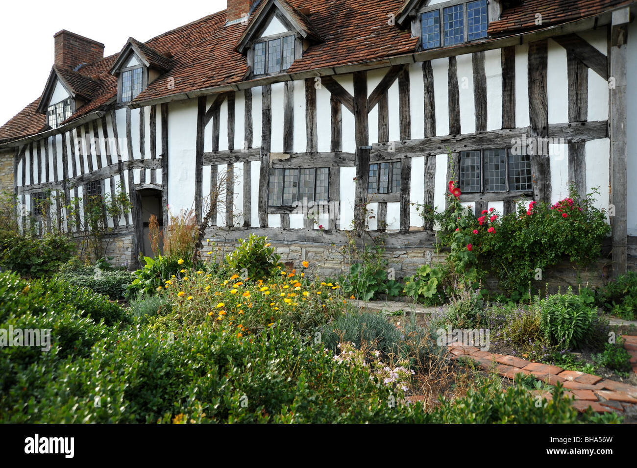 William Shakespeare's mother Mary Arden, her house at Wilmcote just outside Stratford upon Avon, Warwickshire, - Stock Image