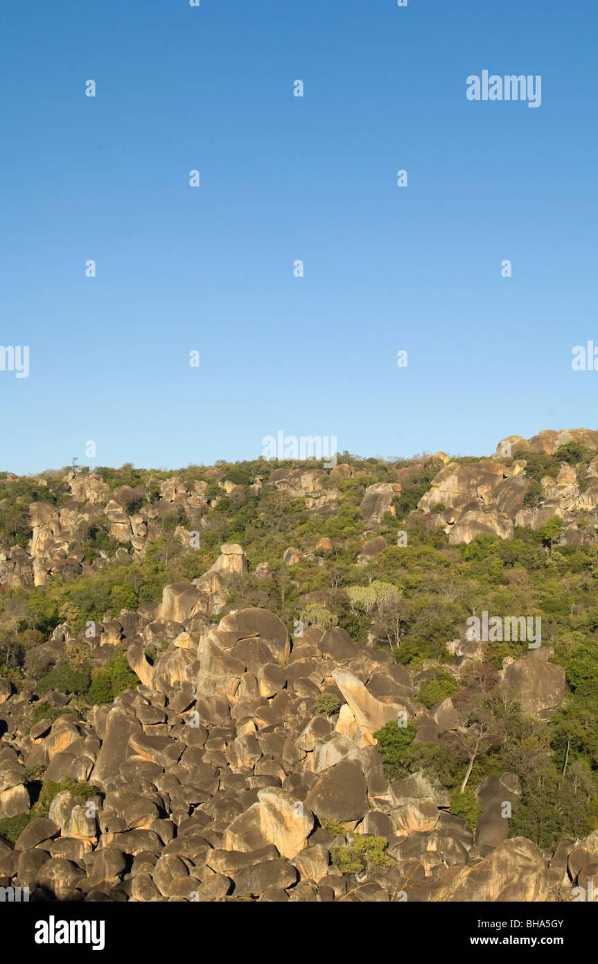 Rhodes Matopos National Park Zimbabwe rocks hill - Stock Image