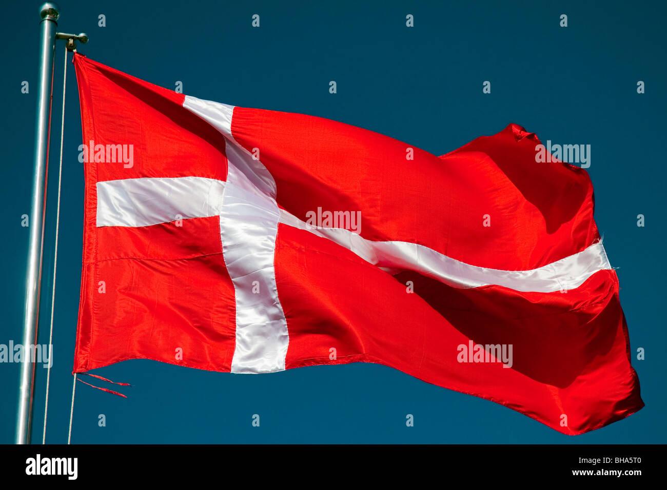 Flag of Denmark - Stock Image