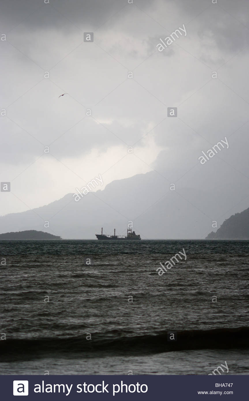 Marmaris Turkey Stormy weather Mediterranean Sea - Stock Image