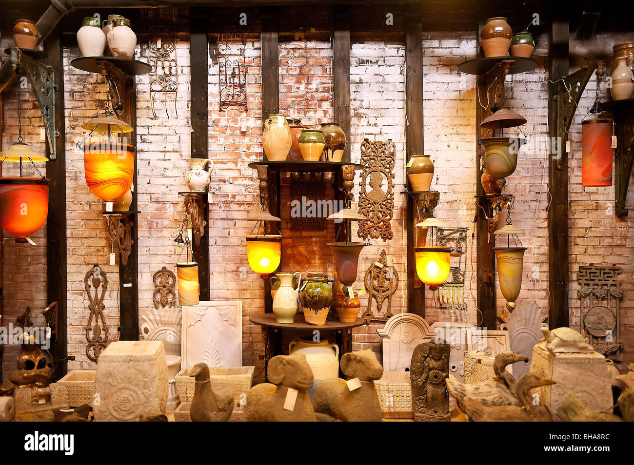 Imported asian lamps. - Stock Image