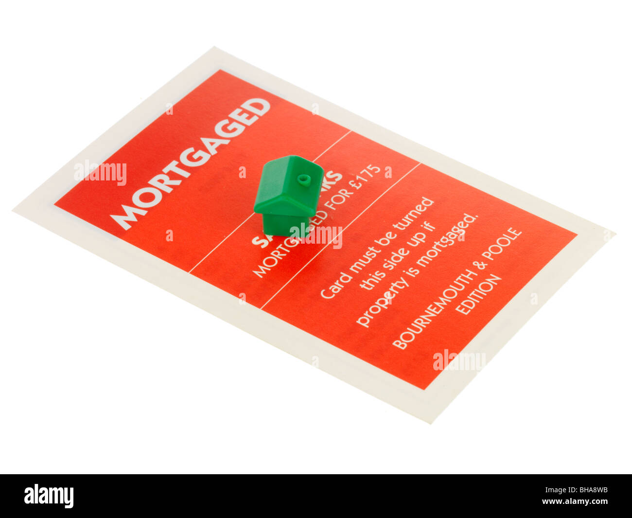 Mortgage Card - Stock Image