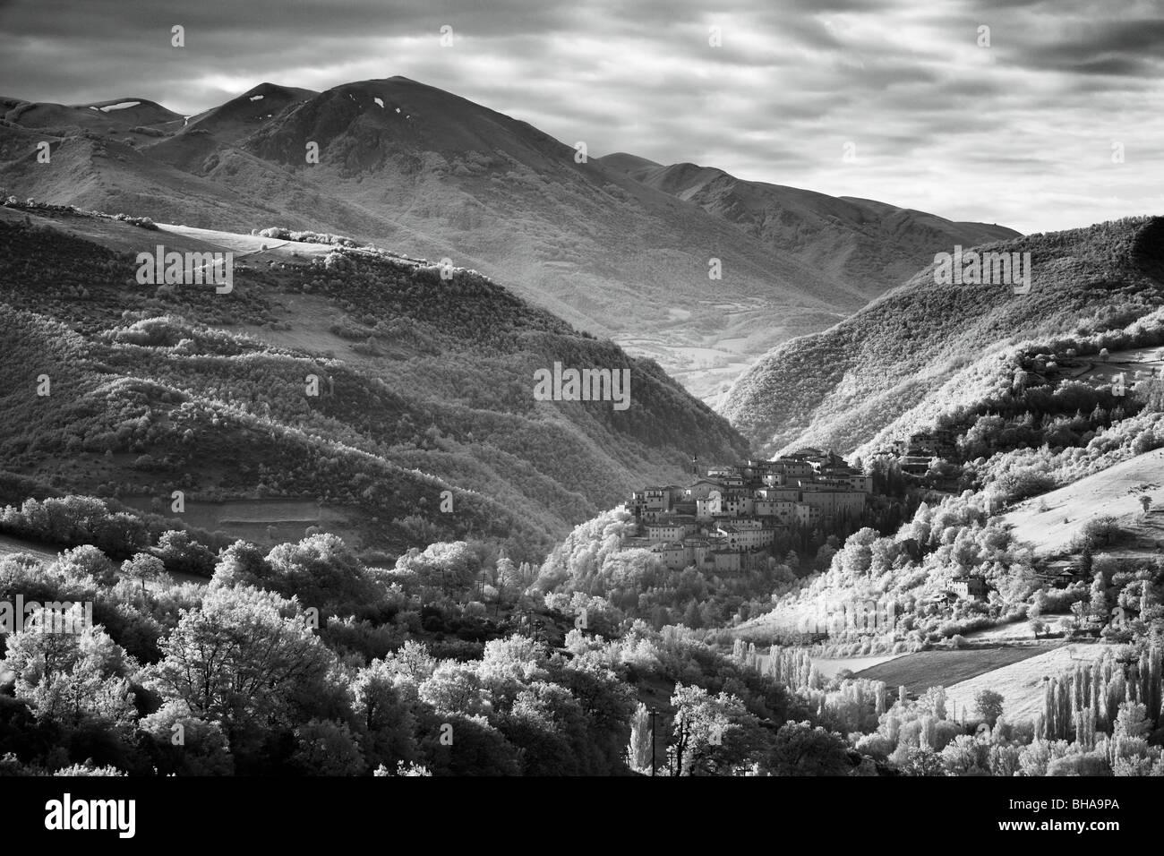 Preci, Valnerina, Monti Sibillini National Park, Umbria, Italy - Stock Image