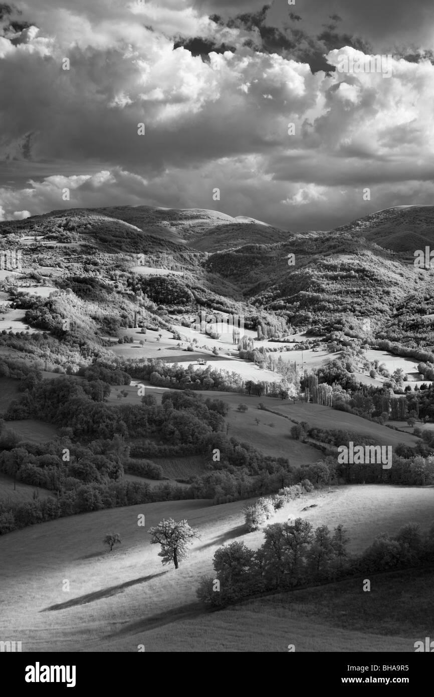 the Valnerina nr Preci, Umbria, Italy - Stock Image