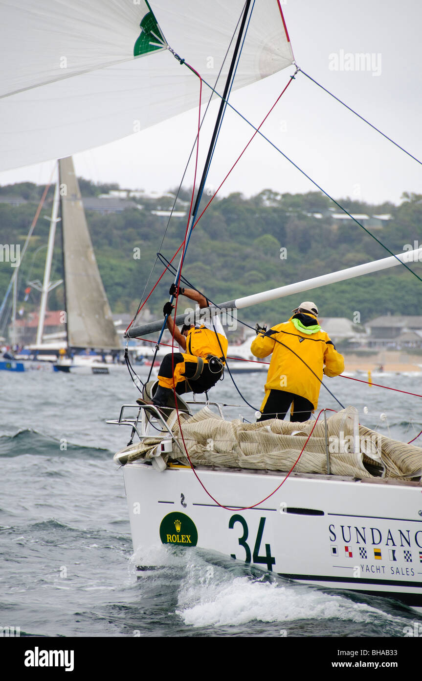 SYDNEY, Australia - SYDNEY, Australia - Start of the 2009 Rolex Sydney to Harbour Yacht Race in Sydney Harbour - Stock Image