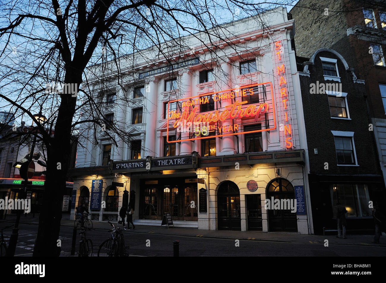 St Martins theatre the mouse trap L London westend - Stock Image
