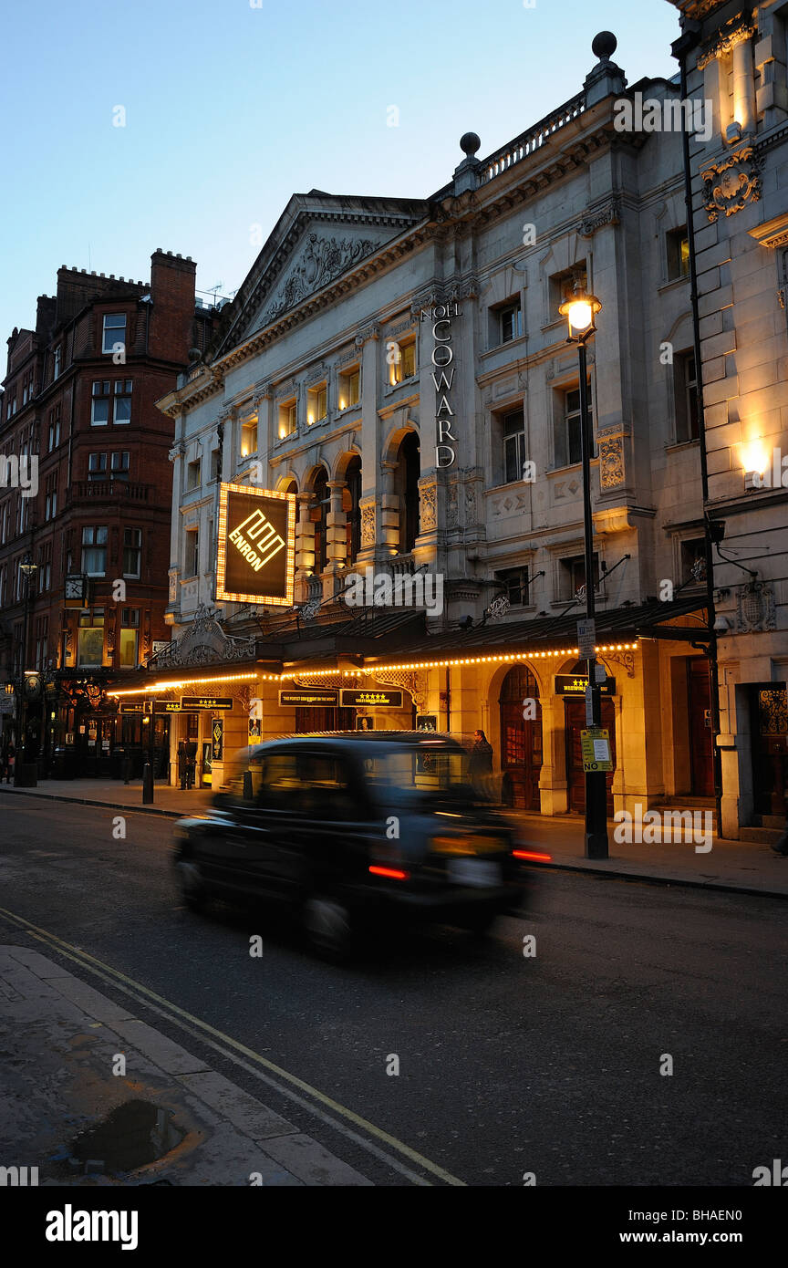 Noel Coward Theatre Enron Musical Play Taxi London - Stock Image