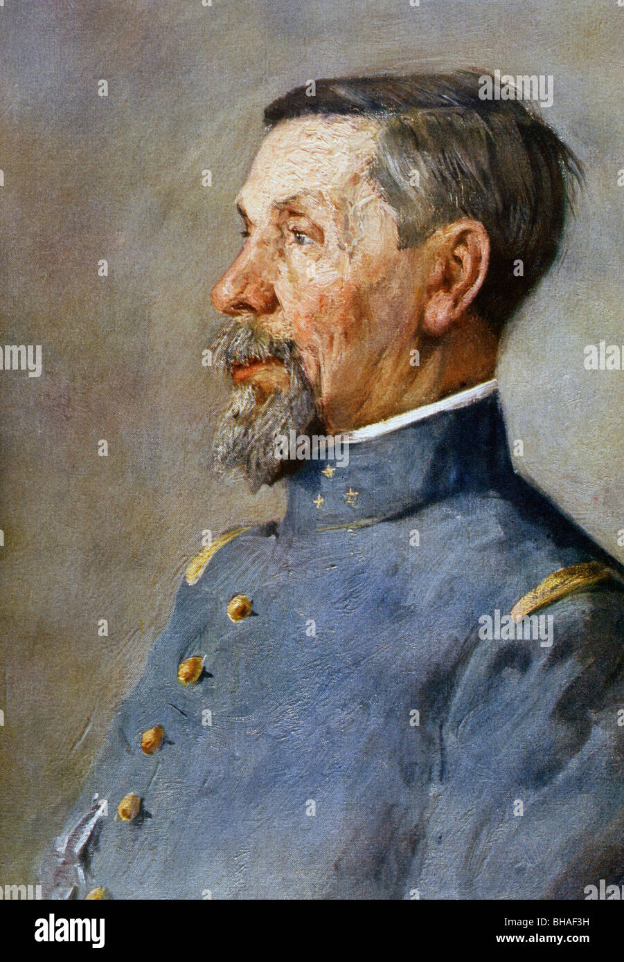 Pierre Auguste Roques, 1856 – 1920. French general and creator of French air force. - Stock Image