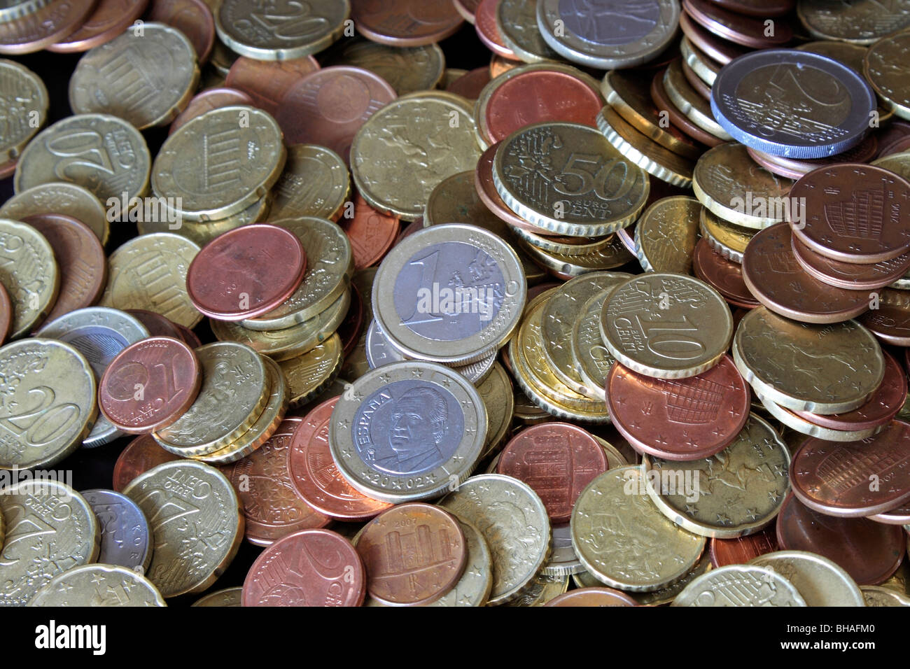 Euro Coins - Stock Image