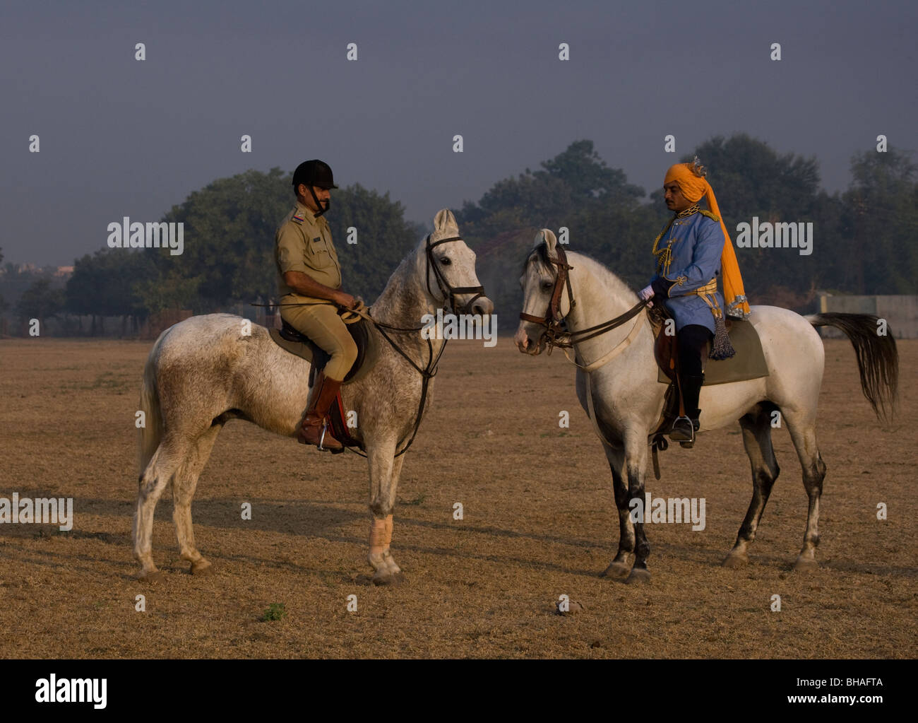 Police Horse Costume Tradition India Force Gujarat Stock Photo Alamy
