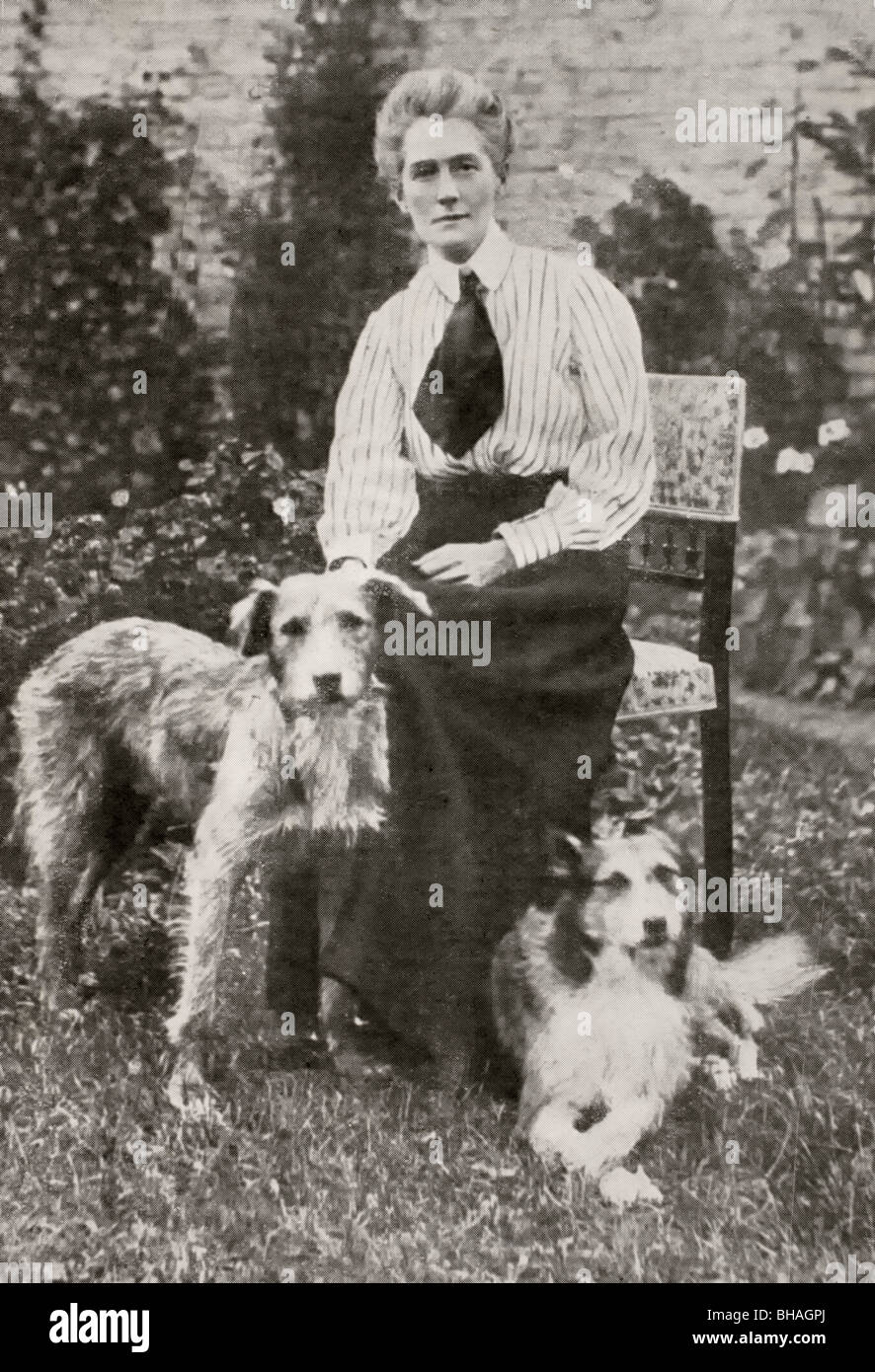 Edith Louisa Cavell, 1865 to 1915. British nurse and humanitarian executed in First World War. - Stock Image