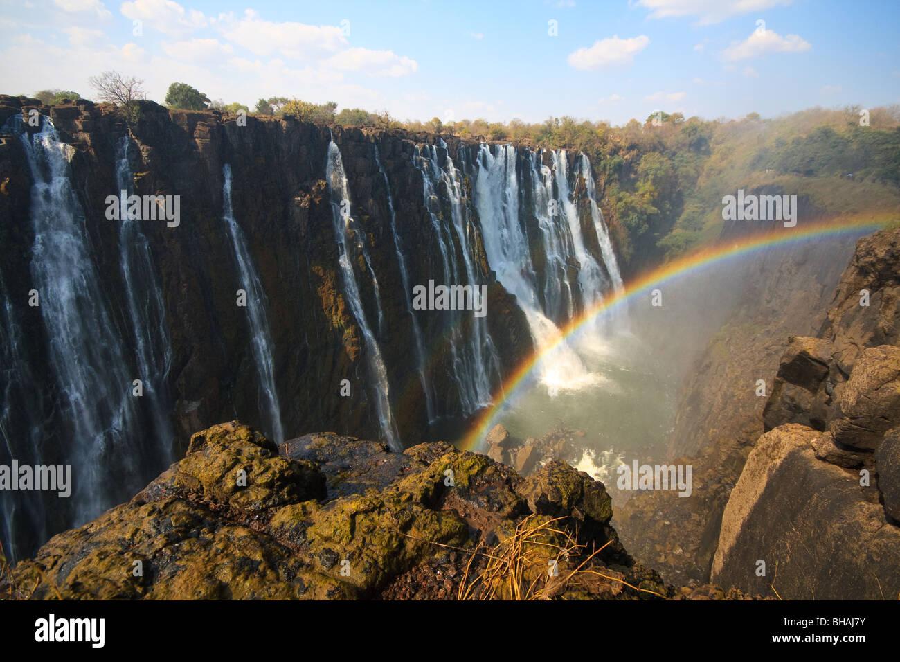 Africa Rainbows River Victoria Falls Zambia - Stock Image