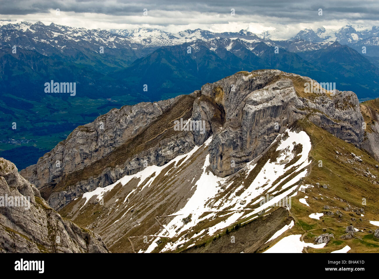 Mount Pilatus Switzerland. Stock Photo