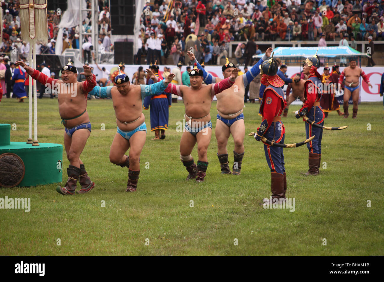 Openning ceremony of the 2009 Naadam Festival, Mongolia - Stock Image