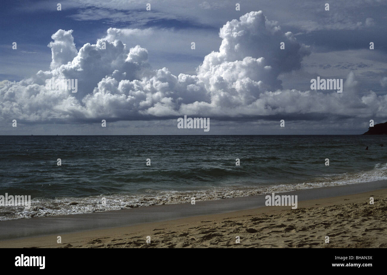 Cloudy sky by the sea, Phuket, Thailand - Stock Image