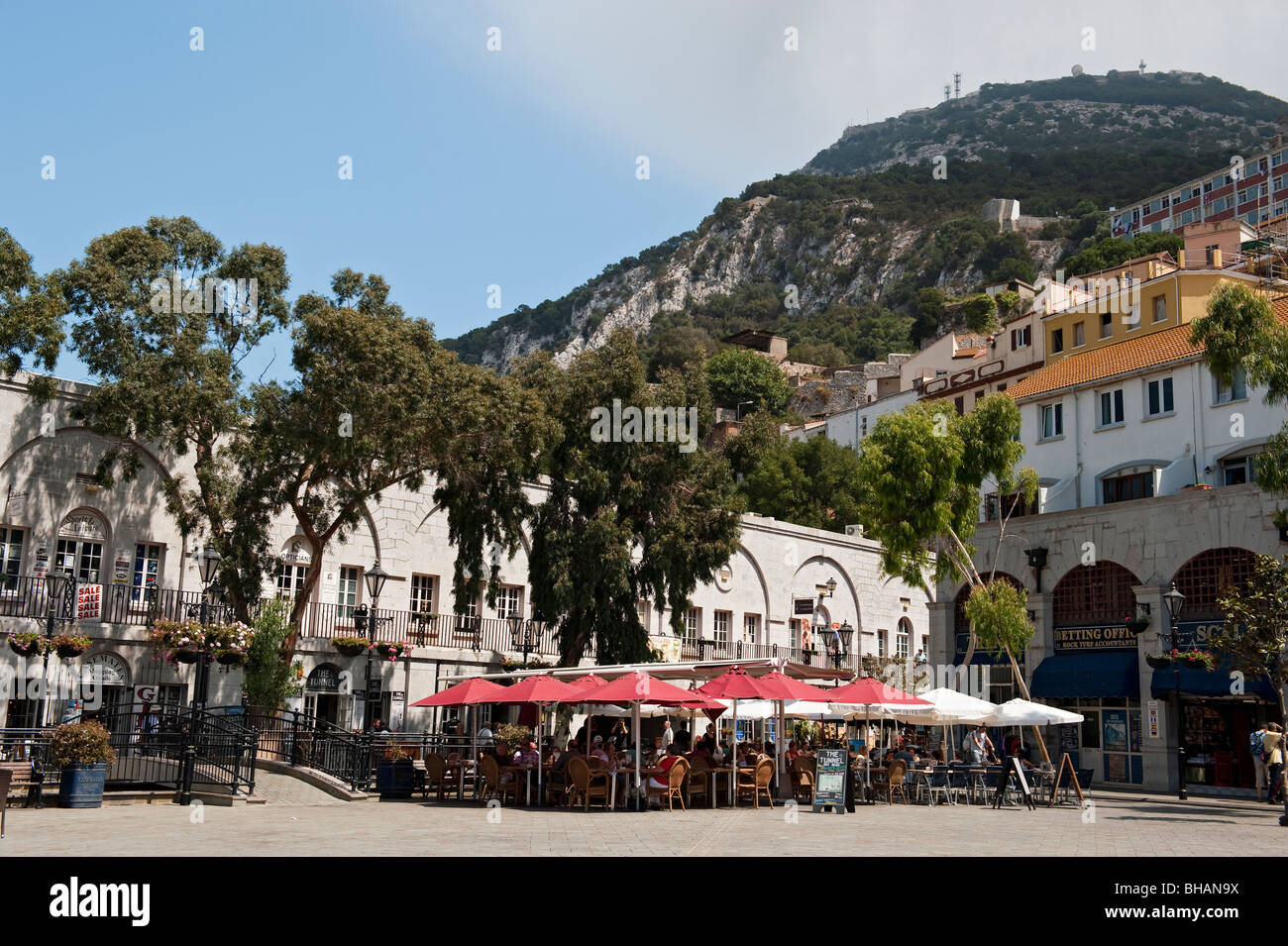 Grand Casemates Square at the end of Main Street, Gibraltar - Stock Image