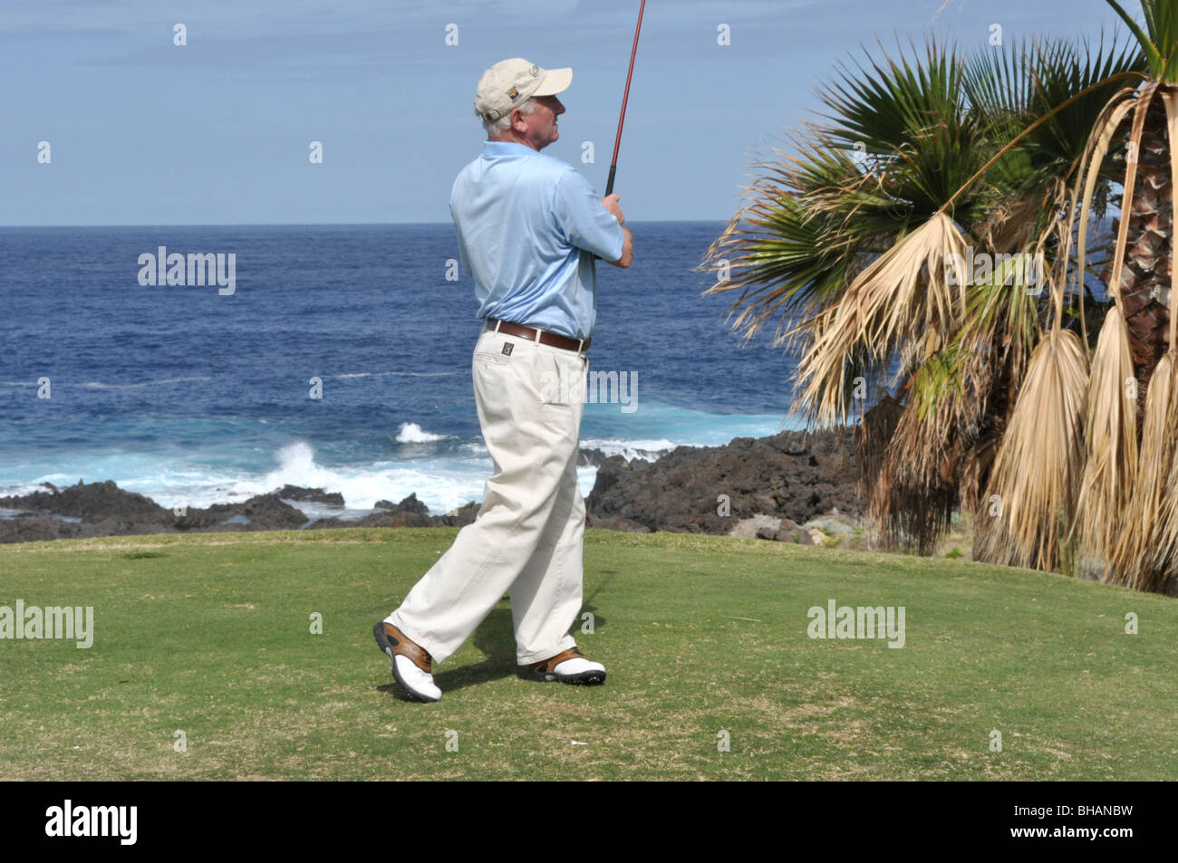 Malcolm Campbell-Former editor of Golf Monthly-author of The Encyclopedia of Golf - Stock Image