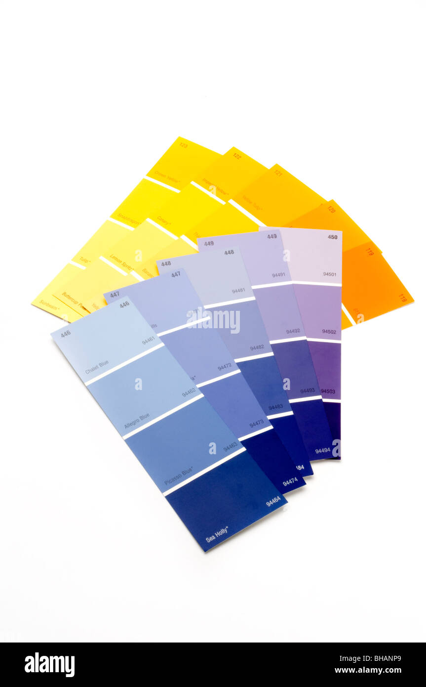 paint swatches - Stock Image