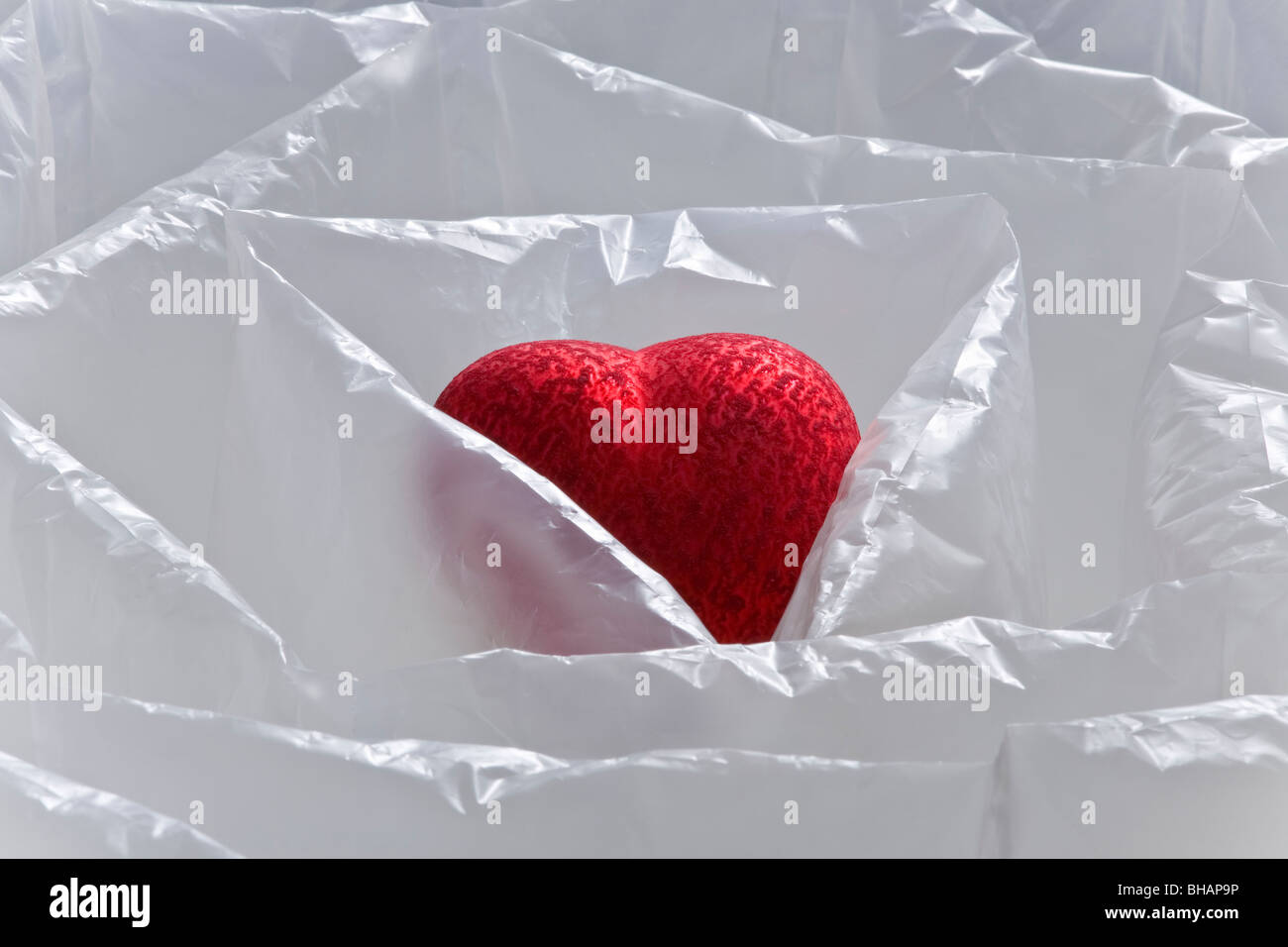 HEART IN AIR CUSHION, GERMANY - Stock Image