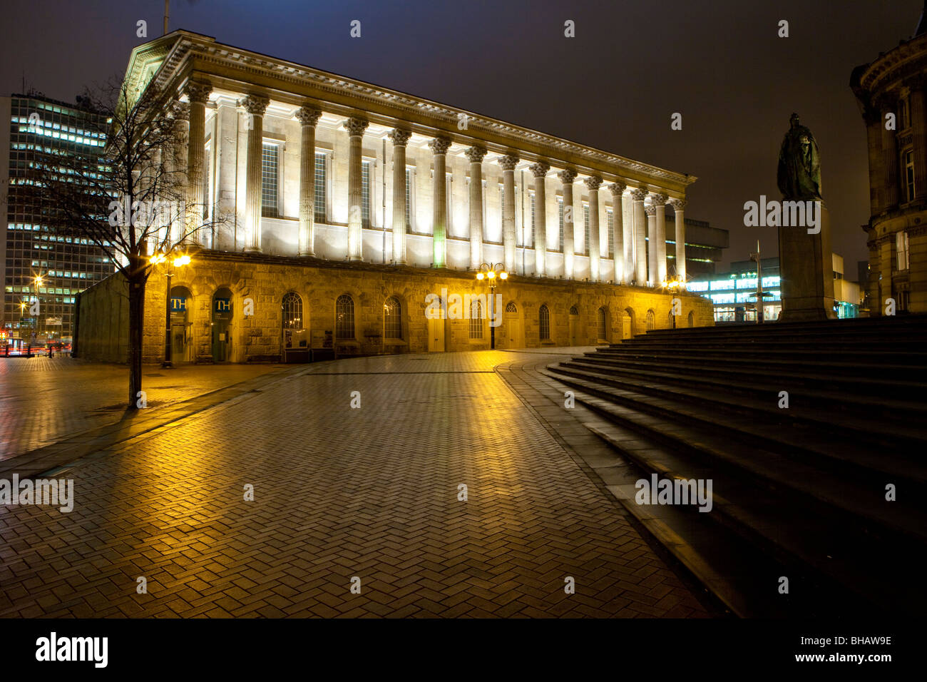The Town Hall in Birmingham City Centre, Victoria Square, Birmingham - Stock Image