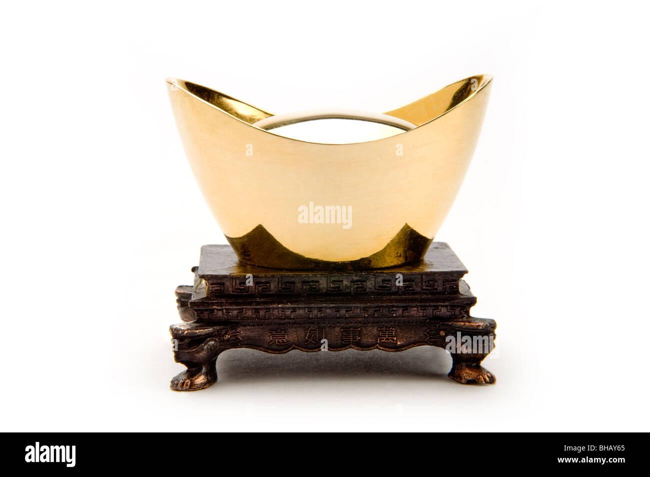 Chinese ingot - Stock Image