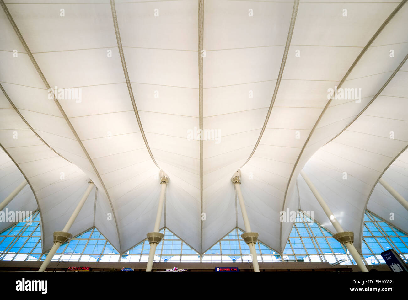 Denver Airport Tent Like Roof Structure Tensile