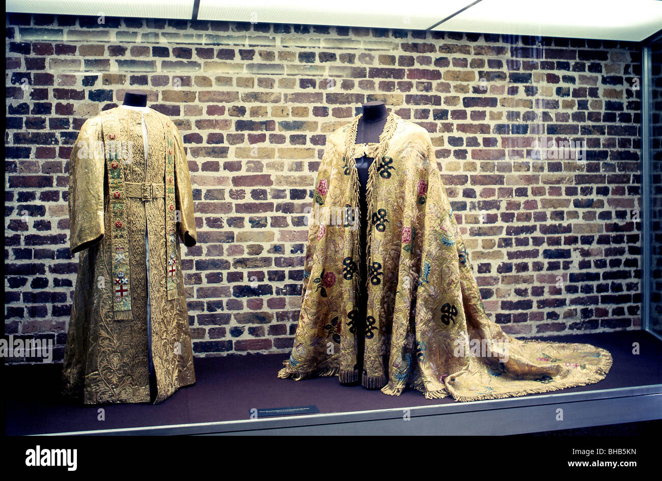 Tower of London,Crown Jewels,The Coronation Robes. - Stock Image