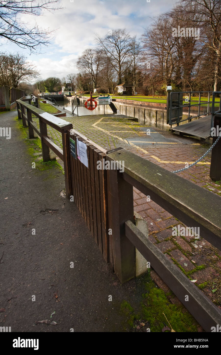 Romney Lock on the River Thames at Windsor, Berkshire, Uk - Stock Image