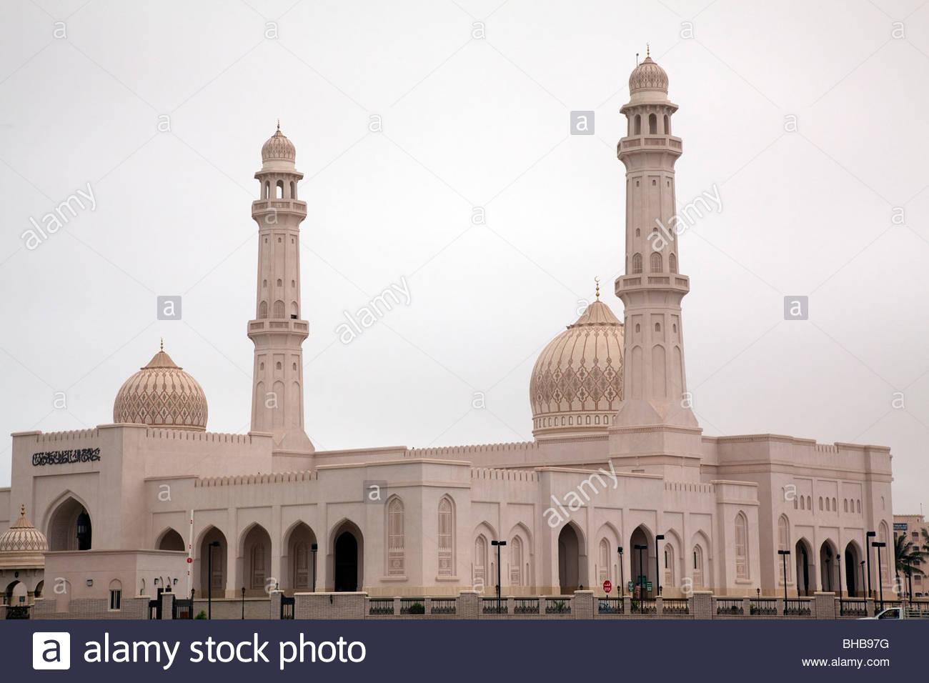 arab arabian Arabian Peninsula Asia Dhofar islam; islamic khareef season; wet season monsoon; rainfall mosque Oman - Stock Image