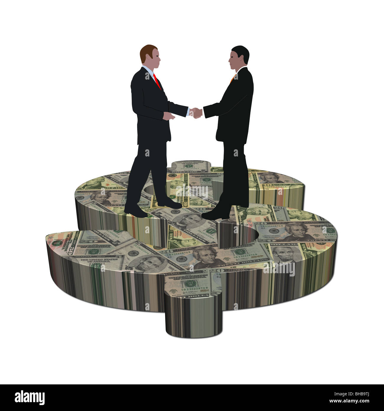 Business Men Meeting On Giant Stock Photos Business Men Meeting On