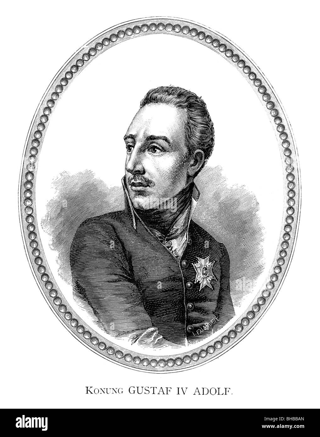 Gustav IV Adolf - Stock Image