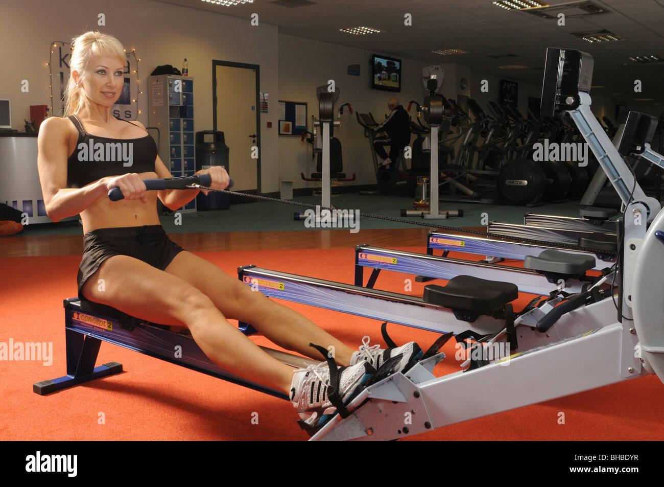Concept 2 Indoor rowing - Stock Image
